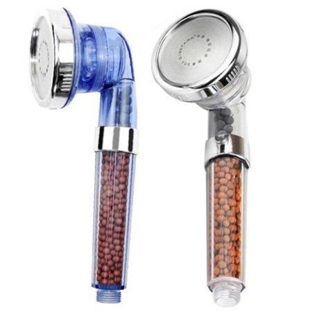 Large Negative lons 3 Modes Adjustable High Pressure SPA Shower Heads Blue