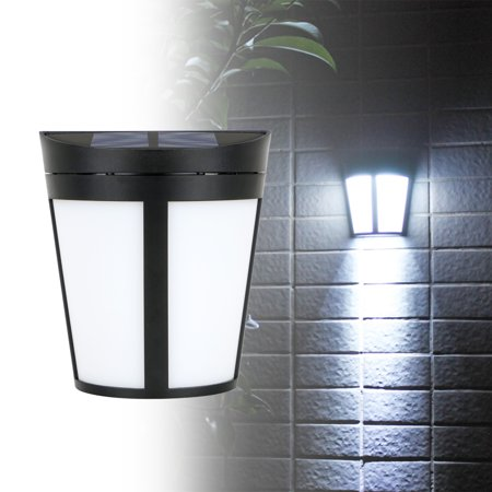 Solar Power 6 LED Path Way Light Waterproof Wall Lamp Bulb for Outdoor Yard Patio Home Garden