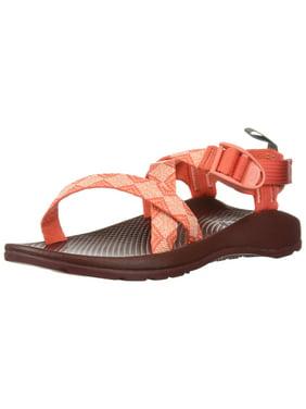 Chaco J180022: Girls' Z1 Ecotread Kaleido Peach Walking Sandals (3 M US Little Kid)