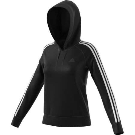 00216ae5de9a Womens Activewear - Adidas Womens Athletics Essential Cotton Fleece 3  Stripe Pullover Hoody - Walmart.com