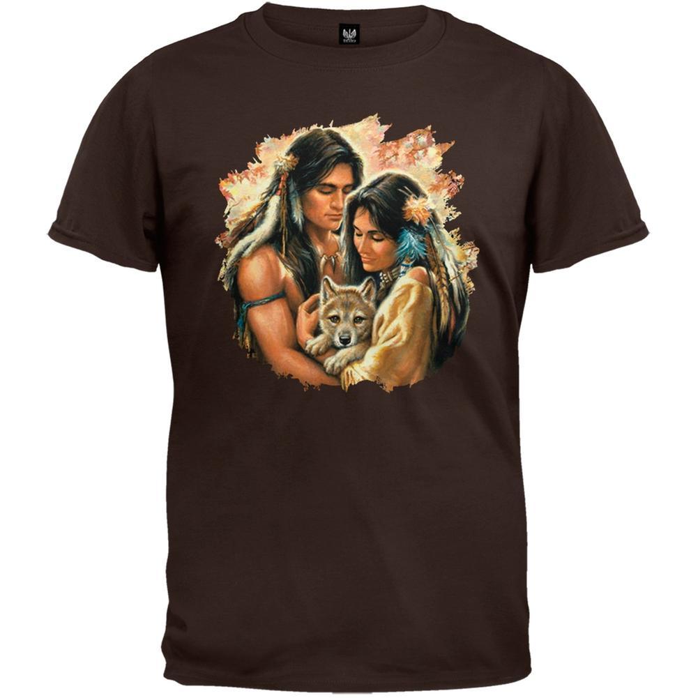 Tender Hearts Brown Adult T-Shirt