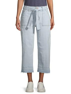 EV1 from Ellen DeGeneres Allie Wide Leg Front Tie Jeans Women's (Bleach Wash)