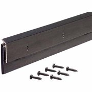 """M-D Products 68254 36"""" Bronze Anodized Door Sweeps with Drip Caps"""