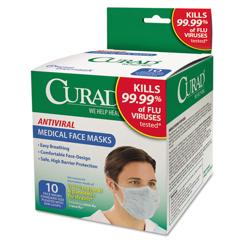 Curad Antiviral Facemasks 10 Each