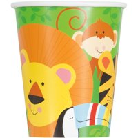 9oz Paper Animal Jungle Cups, 8ct