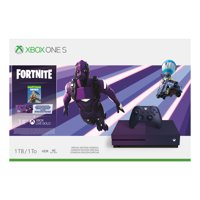 Microsoft Xbox One S 1TB Fortnite Limited Edition Bundle, Purple, 23C-00080