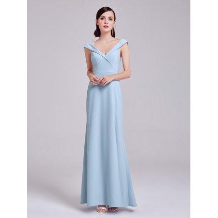 Ever-Pretty Women's Elegant Long V Neck Tulip Sleeves Evening Party Dress 07203 for Women US (Tulip Sleeve Dress)
