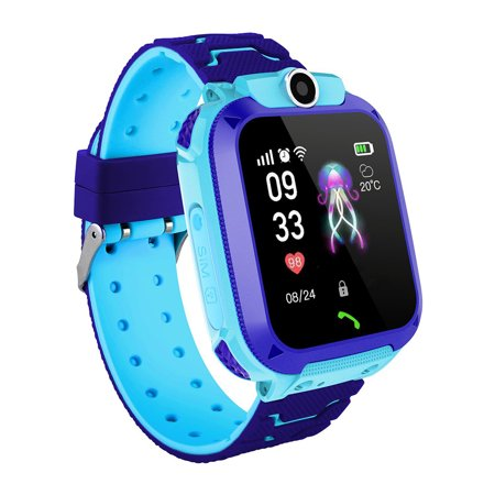 Kids Children Electronic Smart Watch Monitoring Locator Tracker Fashion Large Screen Sports Wristwatch Silicone LBS Phone Watch