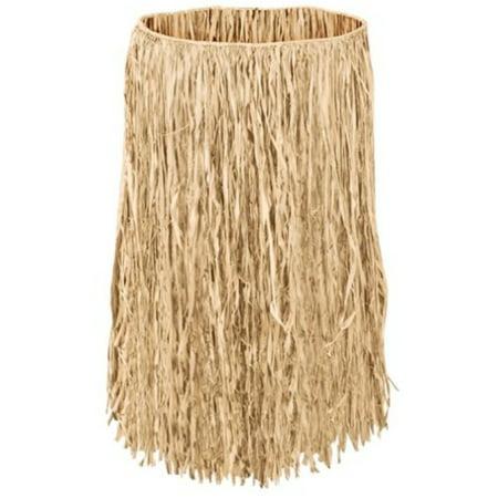Hula Grass Skirt Natural Adult X Large 36