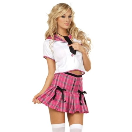 Pink/White College Girl Costume RG Costumes 81540 Pink/White