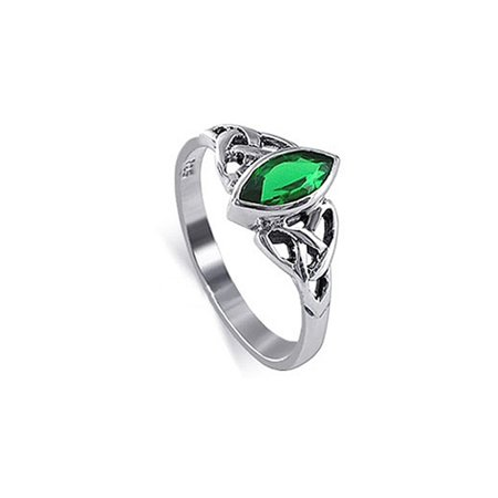 Gem Avenue 925 Sterling Silver Marquise Celtic knot Solitaire (Marquise Solitaire Ring Mounting)
