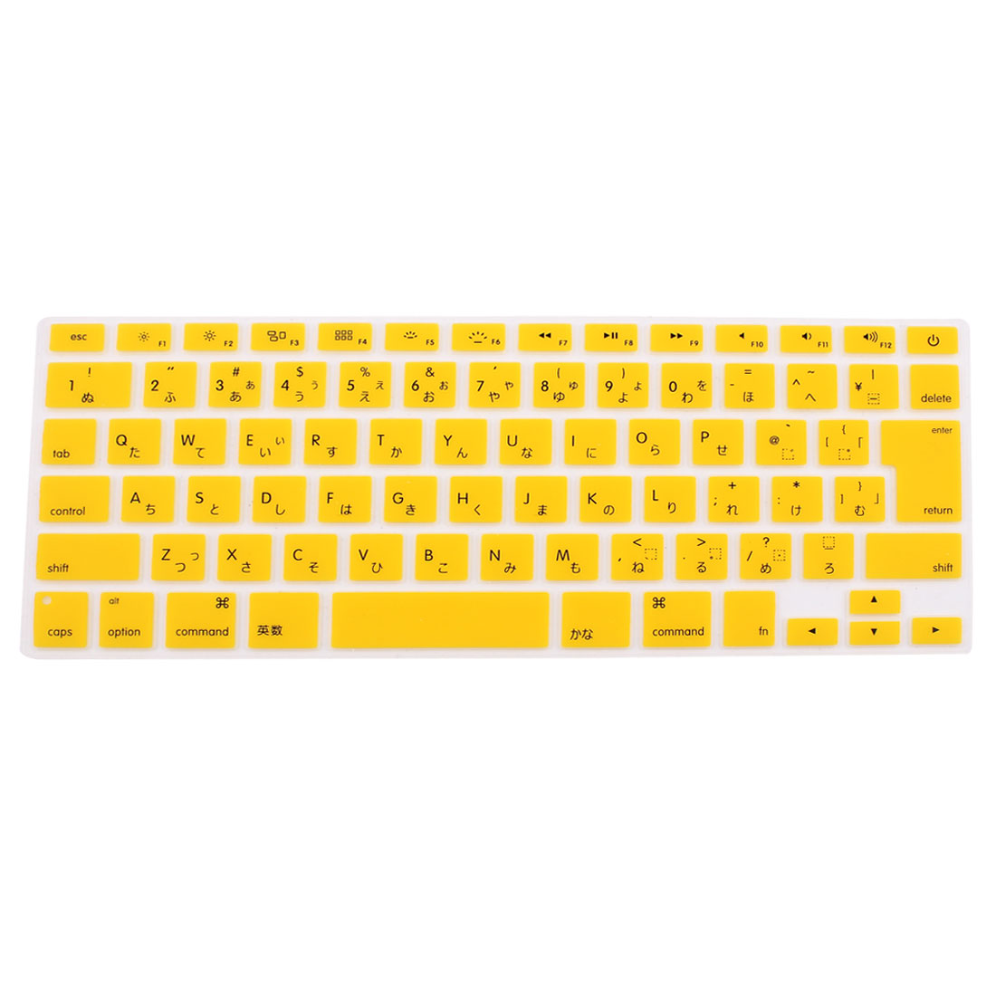 "Unique Bargains Japanese Silicone Keyboard Skin Cover Yellow for Apple Macbook Air 13""15""17"""
