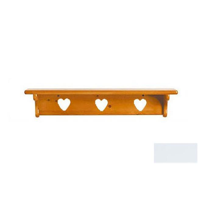 Little Colorado 1230SWHT Wall Shelf without Pegs Heart in Solid White by Little Colorado