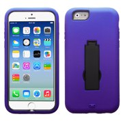 For iPhone 6s/6 Black/Purple Symbiosis Stand Protector Cover
