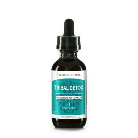 Tribal Detox Alcohol-FREE Extract, Tincture, Glycerite Turmeric, Dandelion, Milk Thistle, Burdock, Cleavers, Cranberry, Goldenrod, Green Tea Cleansing Action Formula 2 oz