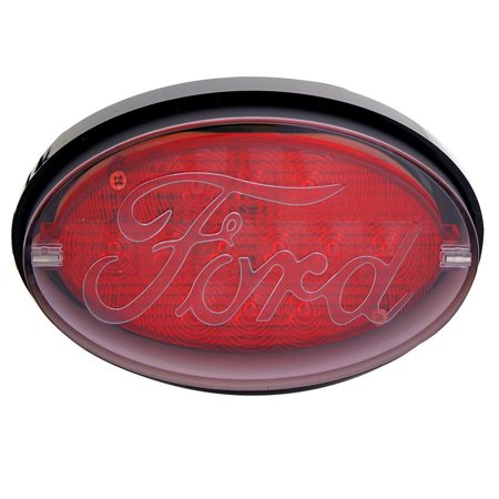 Receiver Cover (Bully - Oval LED Hitch Cover with Brake Light Ford Logo for 2