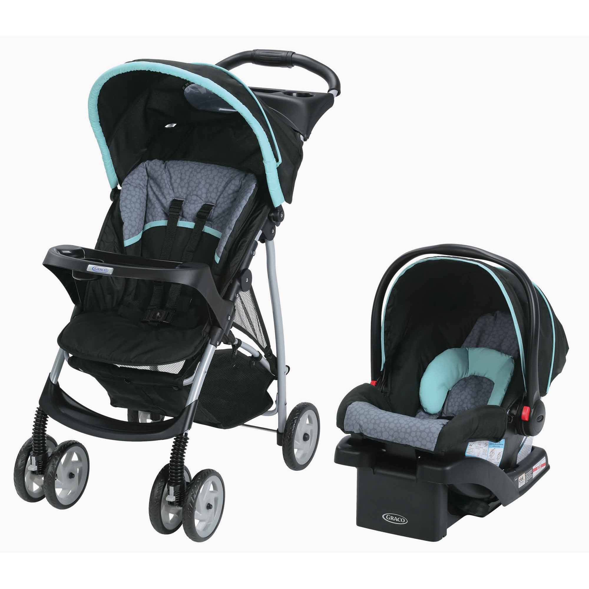 Graco LiteRider Click Connect Travel System, Car Seat and Lightweight Stroller, Sully