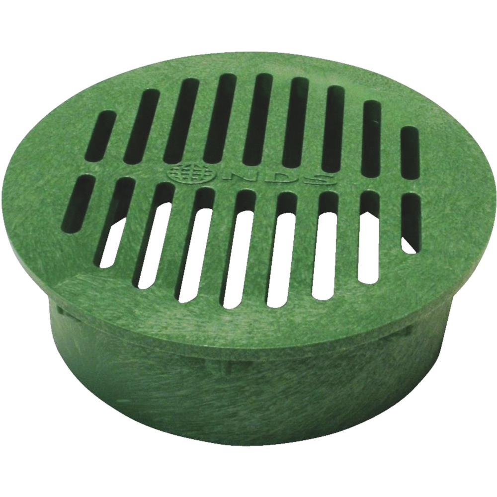 "National Diversified 8"" Green Round Grate 20"