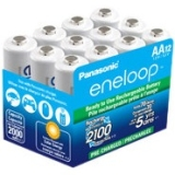 Panasonic eneloop AA 2100 Cycle Ni-MH Rechargeable Batteries (12 Pack)
