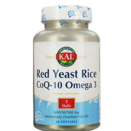 KAL Red Yeast Rice CoQ-10 Omega 3 600/30/500 mg - 60