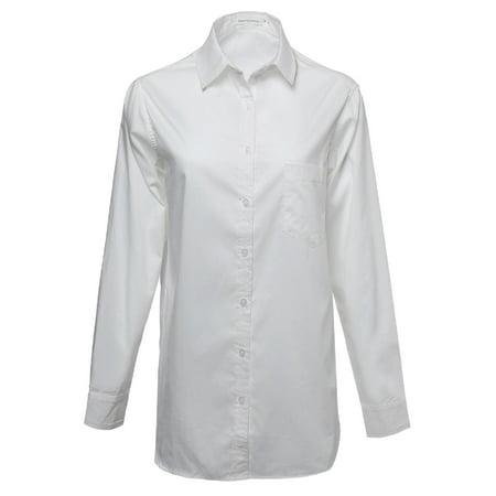FashionOutfit Women's Basic & Classic Oversized Button Up Shirt