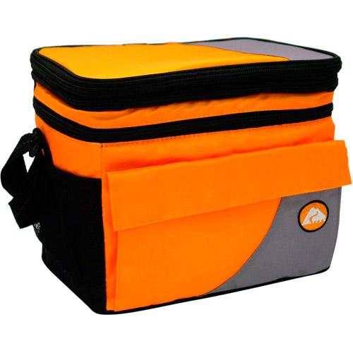 Ozark Trail 6 Can Cooler with Removable Hardliner, Orange
