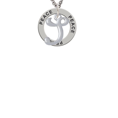 Small Gelato Script Initial - S - Peace Affirmation Ring Necklace