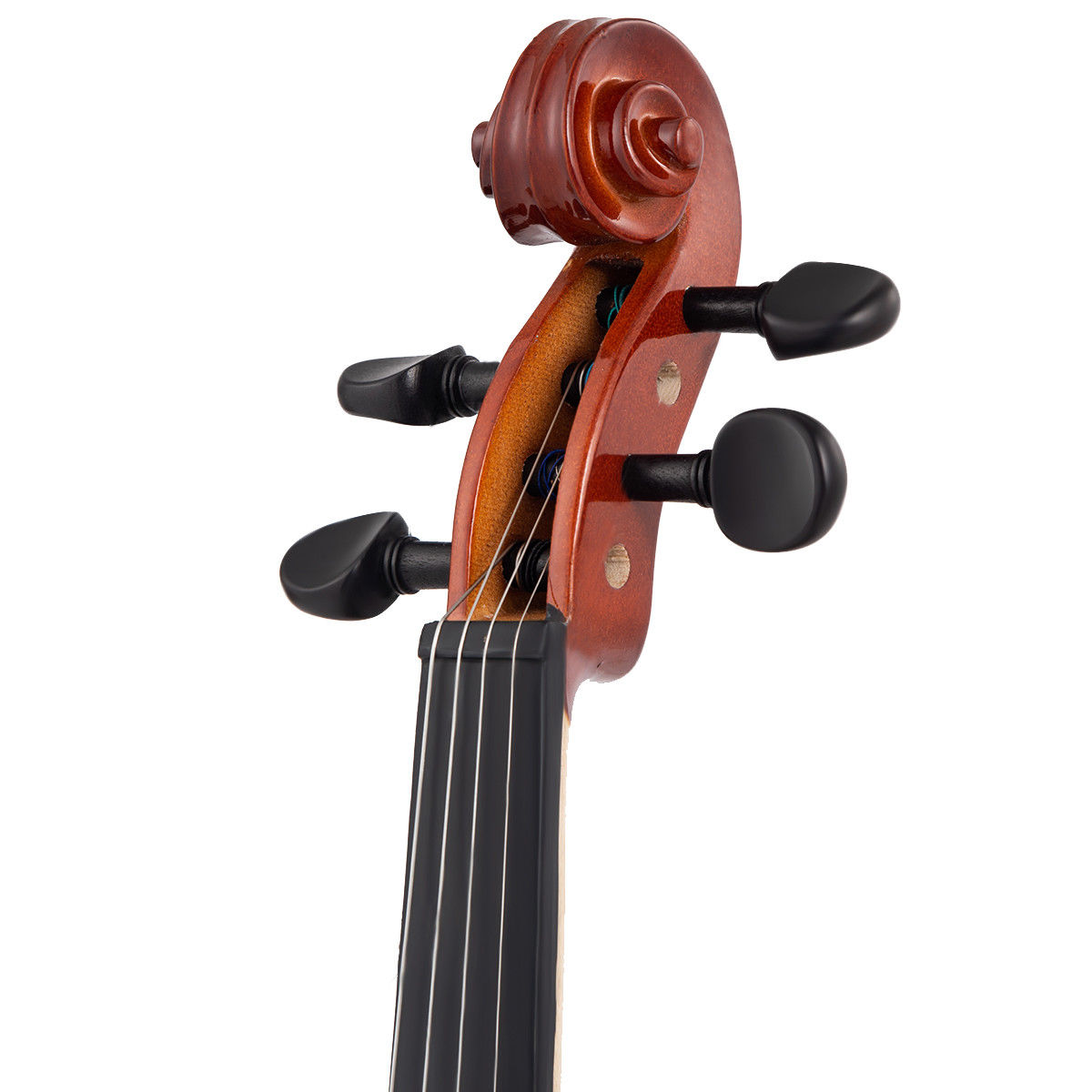 Full Size 4/4 Violin Solid Wood w/ Hard Case Bow Rosin Bridge Student Starter - image 3 de 10