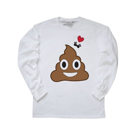 Valentine's Day Love Poop and Flies Long Sleeve T-Shirt (Fly Emoji)