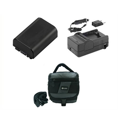 Sony DCR-HC28 Camcorder Accessory Kit includes: SDM-109 Charger, SDNPFH50 Battery, SDC-27 Case