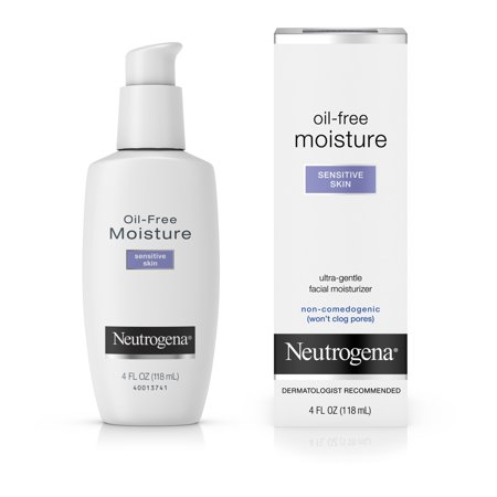 Neutrogena Oil-Free Daily Sensitive Skin Face Moisturizer, 4 fl.