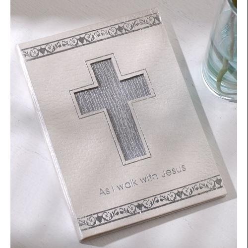 "Club Pack of 12 Religious Cross Baptism Photo Picture Portfolios 7"""