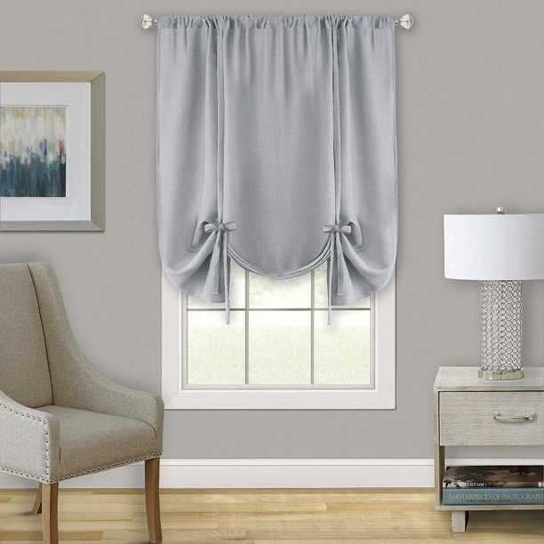 Woven Trends Two Tone Window Curtain