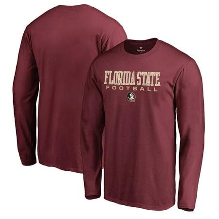 Florida State Seminoles Fanatics Branded True Sport Football Long Sleeve T-Shirt - Garnet