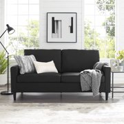 """Mainstays 72.5"""" Apartment Sofa, Woven Fabric, Multiple Colors"""