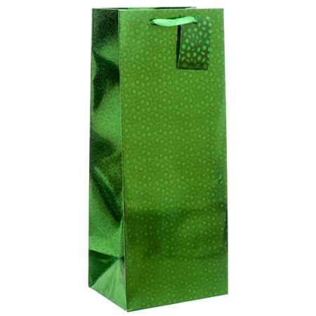 New 378841  Premium Gift Bag Hologram Wine Bottle Asst Color (12-Pack) Gift Wrapping Cheap Wholesale Discount Bulk Party Supplies Gift Wrapping Accessories ()