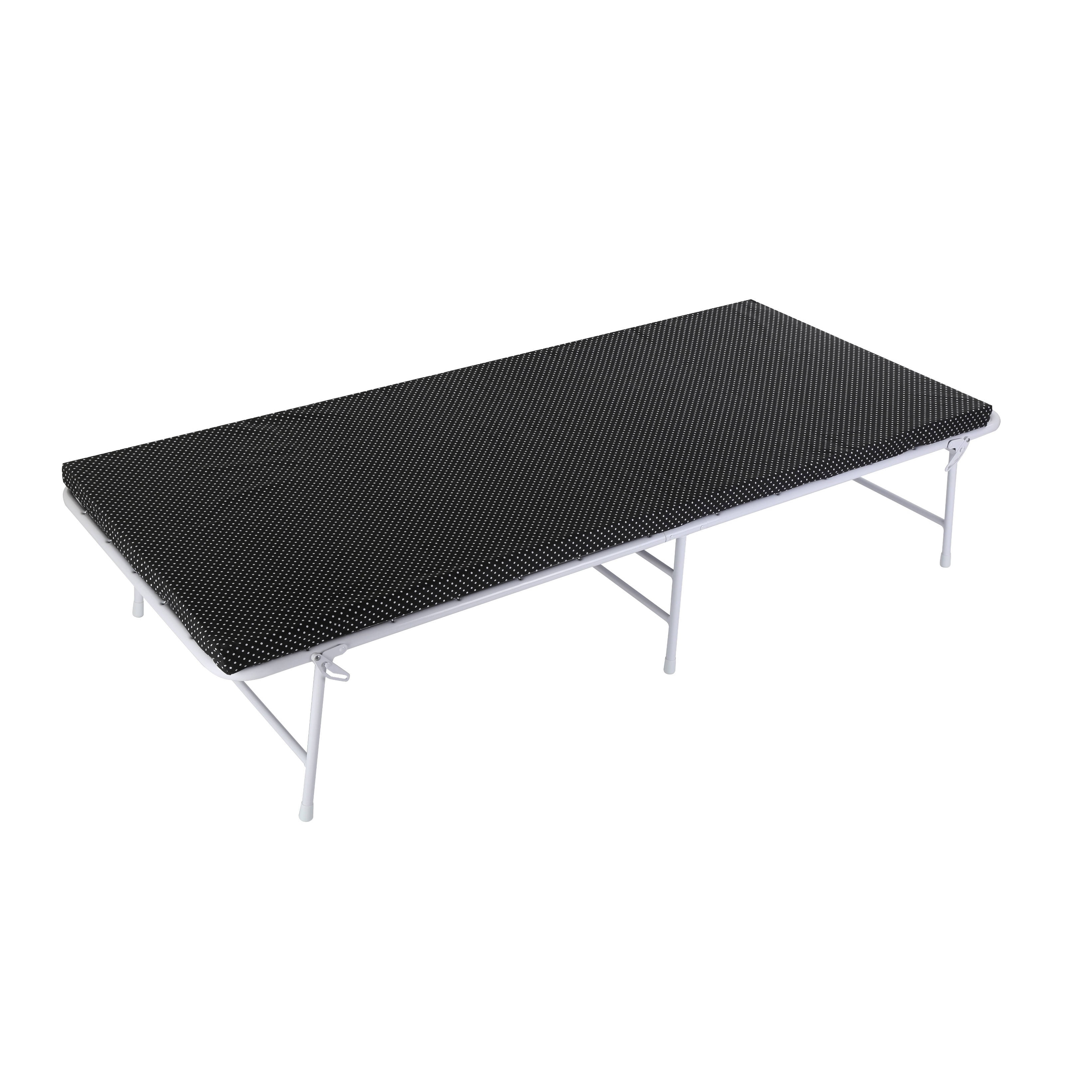 Nova Furniture Group Camping Cot with Foam Mattress Black by Overstock