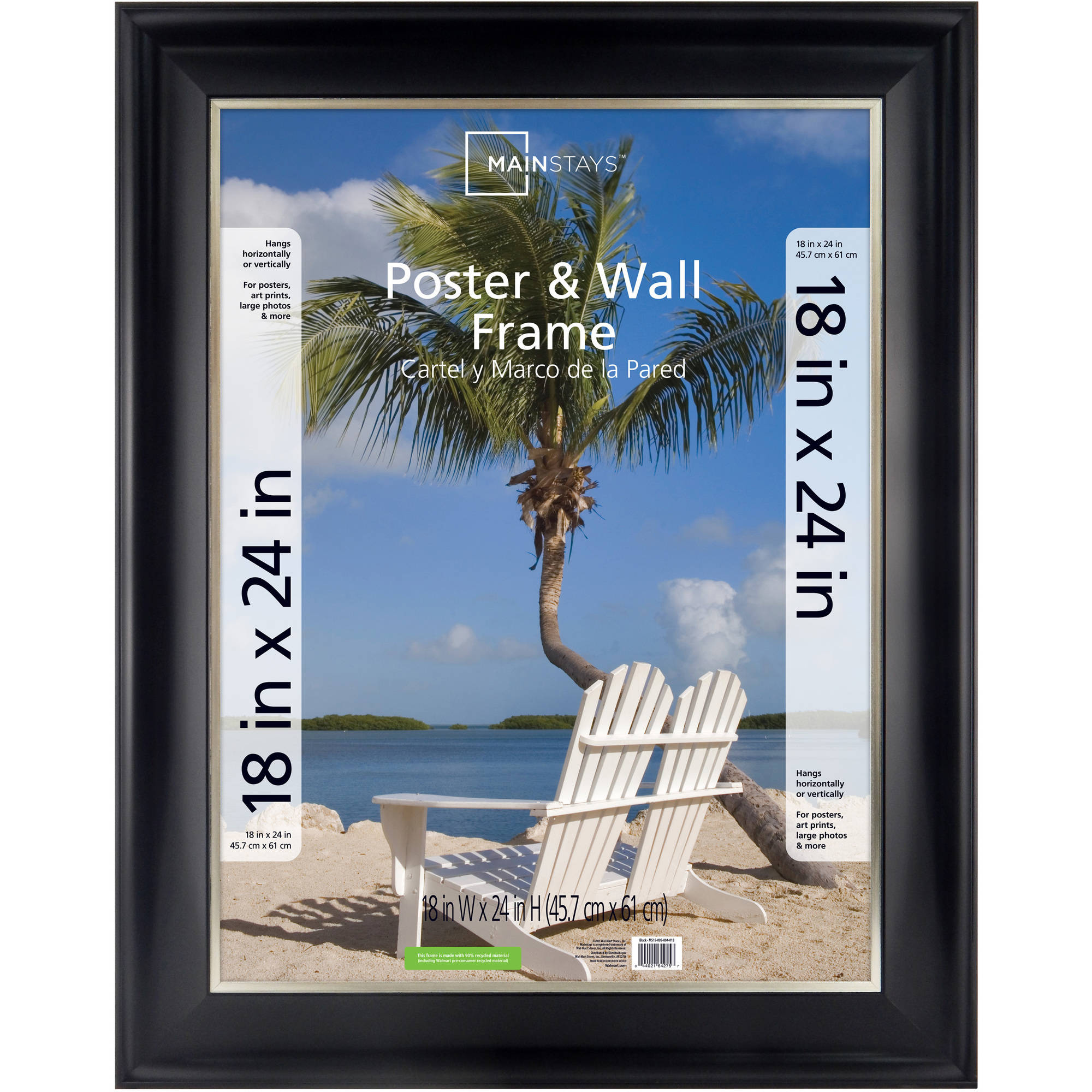 dax coloredge poster frame clear plastic window 18 x 24 black walmartcom
