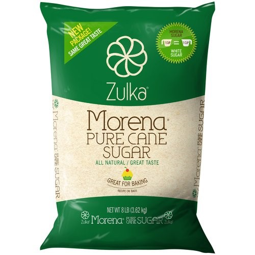 Zulka Pure Cane Sugar, 128 Oz