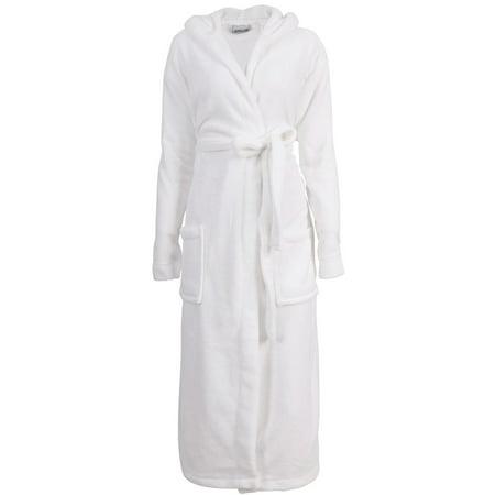 aa15512f9c BASILICA - Men s Plush Warm Long Hooded Bathrobe Kimono Robe