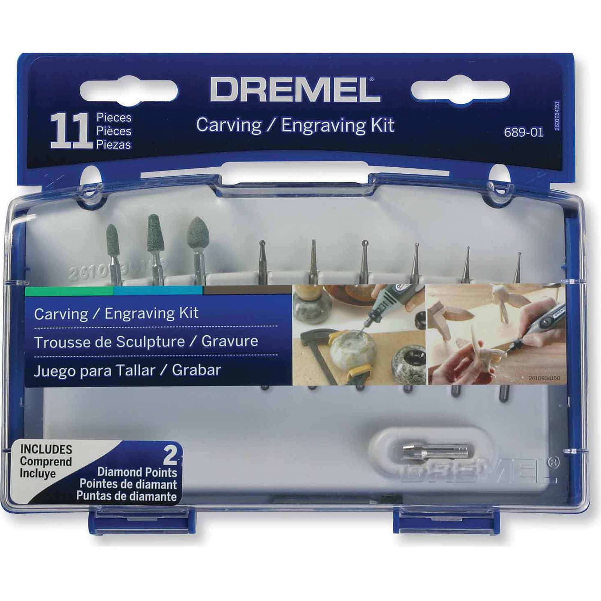 Dremel 689-01 11-Piece Carving/Engraving Kit