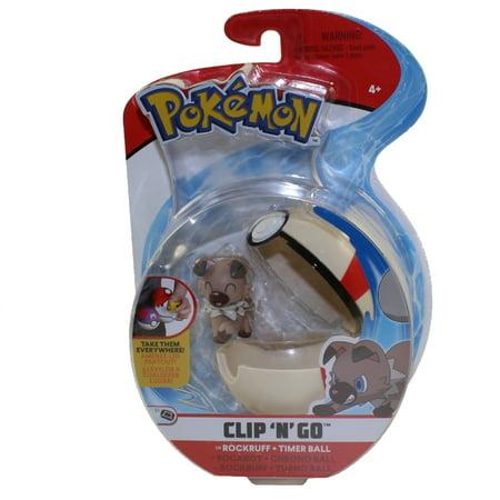 Wicked Cool Toys - Pokemon Clip 'N' Go Poke Ball & Figure - ROCKRUFF w/ Timer Ball (3 inch)](Pokemon Balls That Open)