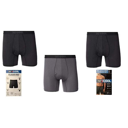 Large Wheeled Expandable Brief (32 DEGREES Men Apparel 3 Pack Boxer Brief Black/Charcoal, Large 36-38 - NEW)