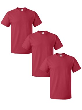 Red Fruit of the Loom Mens T Shirts