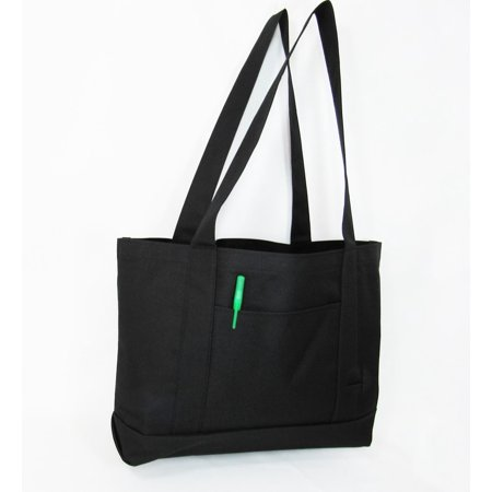 Polyester Large Roll Bag (Eco-Friendly Large Polyester Carry Tote Bag W/outside Pocket )