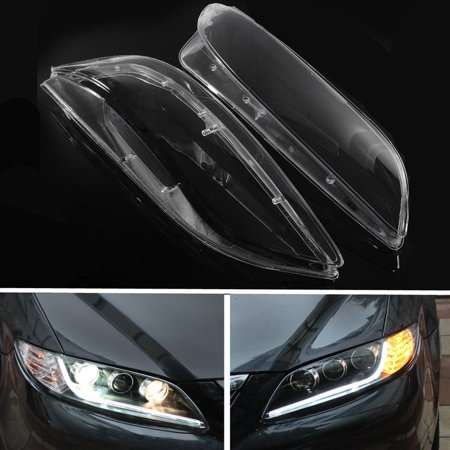 Jeobest Replacement Headlight Lens Cover - Left & Right Headlight Lens Cover Fit For Mazda 6 03 04 05 06 07 08 4 5-Door (see the picture to confirm this part fits your vehicle before ordering)