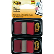 Post-it®, MMM680RD2, Flags, 100 / Pack, Red