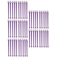 50 Pack Dual End Pet Toothbrushes Bulk Vet Dog Rescue Shelter Choose Color (Purple)