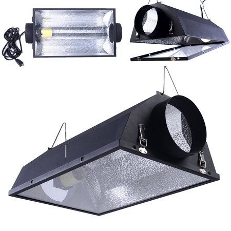 "6"" Air Cooled Hood Reflector Hydroponics Light Grow Hydroponic Glass Cover - image 9 of 9"