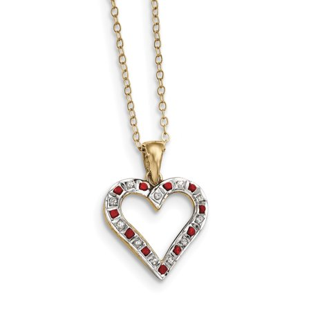 925 Sterling Silver Gold Plated Diamond Red Ruby 18 Inch Heart Chain Necklace Pendant Charm S/love Infinity Animals/insect Fine Jewelry Ideal Gifts For Women Gift Set From Heart